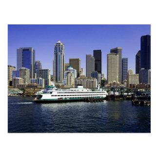 Seattle färjastat Washington Vykort