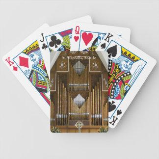 Seattle leda i rör organ som leker kort spelkort