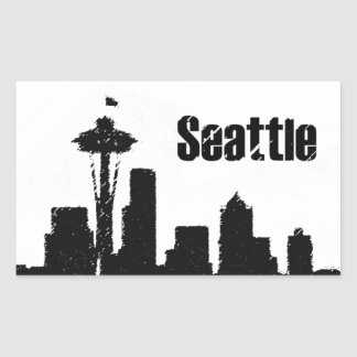 Seattle Rektangulärt Klistermärke