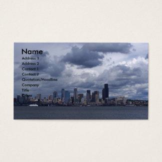 Seattle stad Scape Visitkort