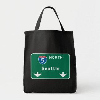 Seattle WA-vägmärke Tygkasse