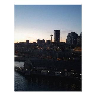 Seattle Washington natthimmel Brevhuvud