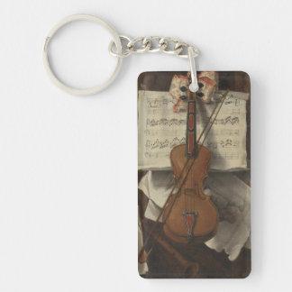 Sebastiano Lazzari Trompe - fiol och musik noter Nyckelring