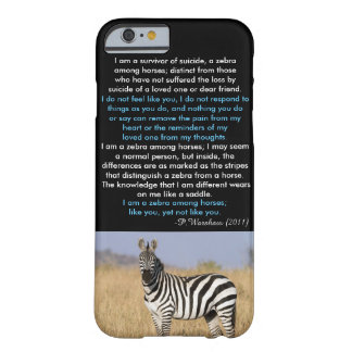 Sebra bland fodral för häst iPhone6 Barely There iPhone 6 Skal