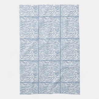 Sebra för stenblåttSafari, belagd med tegel design Kökshanddukar