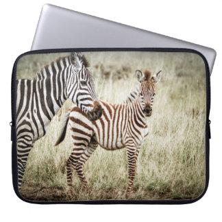 Sebra- och babylaptop sleeve laptopskydd fodral