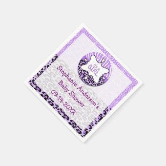 Sebra servetter för papper för Leopardflickababy