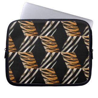 Sebra- & tigerlaptop sleeve laptopskydd