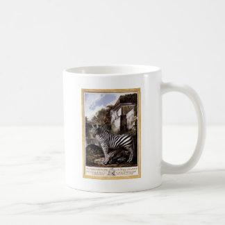 Sebra vid den Luis Paret y alcazaren Kaffemugg