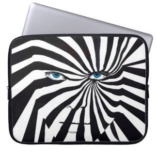 Sebraansiktelaptop sleeve laptopfodral