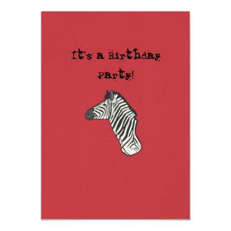 Sebrafödelsedagkort 12,7 X 17,8 Cm Inbjudningskort