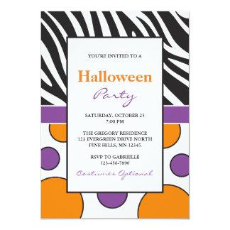 Sebran pricker halloween festinbjudningar 12,7 x 17,8 cm inbjudningskort