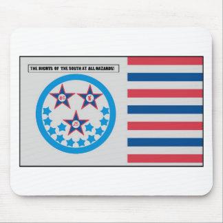 Secessionflagga som används vid Florida - Januari  Mus Mattor