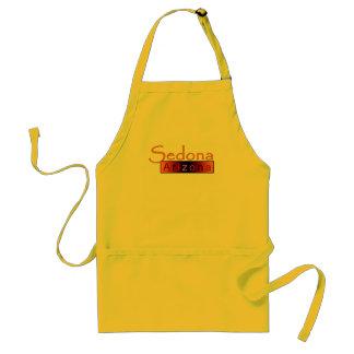 Sedona Arizona i guld- förkläde