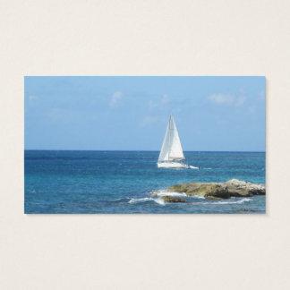 Segelbåt i hav visitkort
