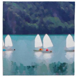 segelbåt på sjön tygservett