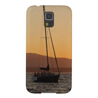 Segelbåt på solnedgången på det Puget ljud Galaxy S5 Fodral