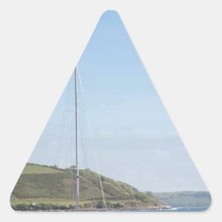 Segelbåt Triangelformat Klistermärke