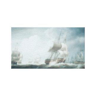 Segelbåtar drömmar, hav, hav canvastryck