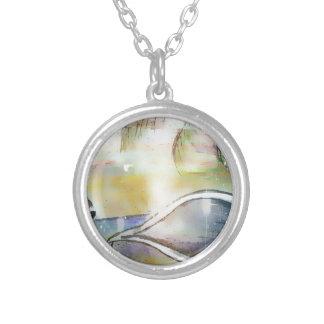 Segelbåtar och snäckskal silverpläterat halsband