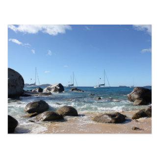 Segelbåtar på baden, BVI Vykort