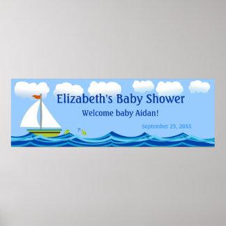 Segelbåtbaby showerbaner poster