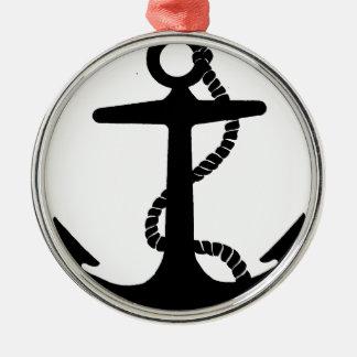 Segelbåten ankrar julgransprydnad metall