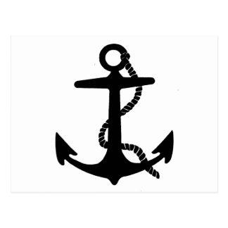 Segelbåten ankrar vykort