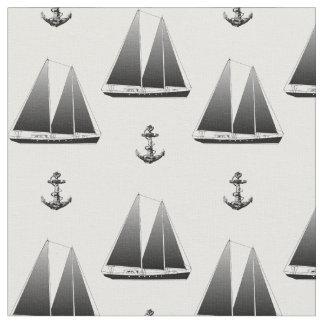 Segelbåten och ankrar tyg