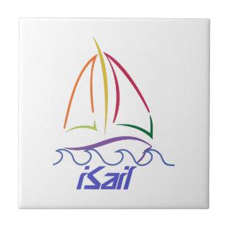 Segelbåten skisserar kakelplatta