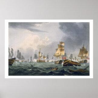 Seger för Lord Howes, 1st Juni 1794 som inristas a Poster