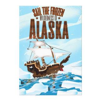 Segla den djupfryst vildmarken av Alaska Canvastryck