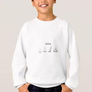 Segla - logotyp för fyra segelbåtar t shirt
