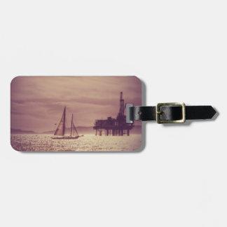 Segla över det guld- havet bagagebricka