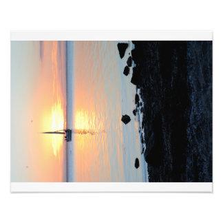 Segla på solnedgången fototryck