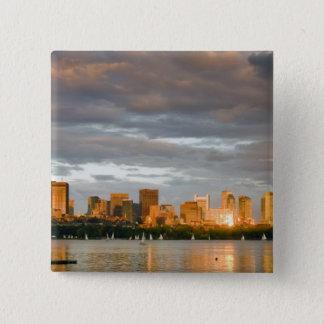 Segla rodden på Charleset River på solnedgången Standard Kanpp Fyrkantig 5.1 Cm