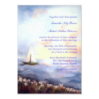 Segla tillsammans strandbröllopinbjudan 12,7 x 17,8 cm inbjudningskort