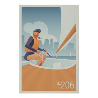 Segling sjöunion, Seattle Poster