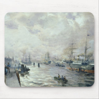 Seglingfrakter i porten av Hamburg, 1889 Musmatta