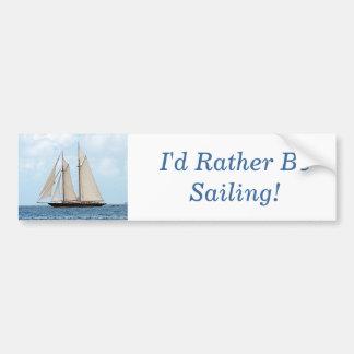 Seglingschooneren BVI, skulle jag seglar ganska! Bildekal