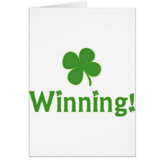 Segra den Charlie Sheen St Patrick dagen Hälsningskort