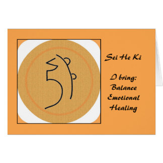 Sei honom Ki Reiki symbol Hälsningskort