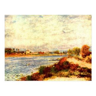 Seine i Argenteuil av Pierre Renoir Vykort
