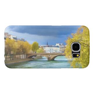 Seine River under April himmlar Samsung Galaxy S6 Fodral