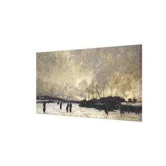 Seinen i December, 1879 Canvastryck
