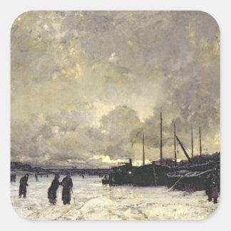 Seinen i December, 1879 Fyrkantigt Klistermärke