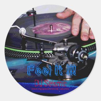 Seismisk känselförnimmelse för DJ det! Runt Klistermärke