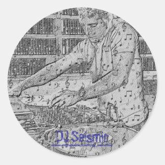Seismisk Makin musik för DJ! Runt Klistermärke