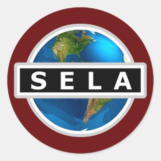 SELA-logotypklistermärke Runt Klistermärke