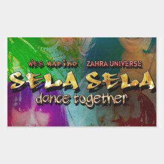 Sela Sela (dansen tillsammans) Rektangulärt Klistermärke